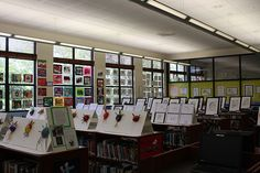 The view from the right side of the Upper School library