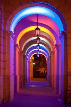 through a rainbow