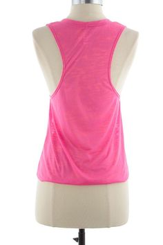 Pop Champs Pink Top – Moonshine & Lace muscle tee www.moonshinelace.com pink hot tank racerback
