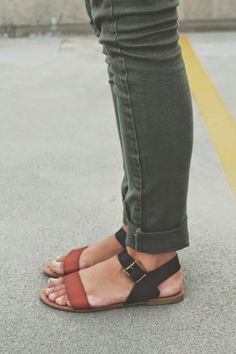 ontwolanesof-freedom:  Arrows and Apricots Blogspot #fashion #sandals