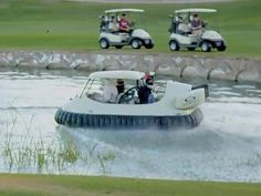 Bubba Watson's awesome new golf hovercraft. Read more here: http://www.compleatgolfer.co.za/blogs/news/bubba-watsons-golf-hovercraft/