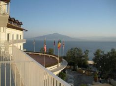 Grand Hotel Aminta, Sorrento.  This is the view of Mt. Vesuvius from the room.