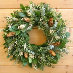 This wonderfully fragrant winter wreath will brighten any room. Includes clusters of tallow berries and pine cones. Shop for wreaths from Creekside Farms!
