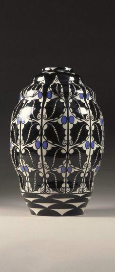 Ceramic vase attributed to Dagobert Peche for Wiener Werkstatte, 20th century