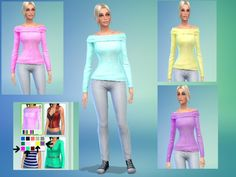 sweetsims4's so cute Sweater Set - Female -