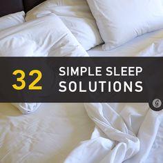 32 Simple #Sleep Solutions
