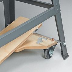 This is so simple for a mobile base for your tools or table. Pict 2 of 3