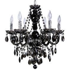 Titus Manufacturing Ltd. | Concerto 6-Light Black Chandelier | Home Depot Canada