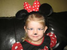 minnie mouse facepainted - Google Search