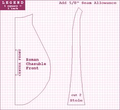 Chasuble & Maniple Diagram
