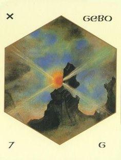 "GEBO RUNE/ Scandinavian/-""the gift""Rune of the unity of opposites,freedom and… Runes Of Magic, Elder Futhark Runes, Asatru, Oracle Cards, Tarot Decks, Unity, Scandinavian, Gifts, Painting"