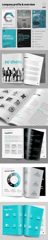 Modern Company Profile Company profile, Indesign templates and - profile company template