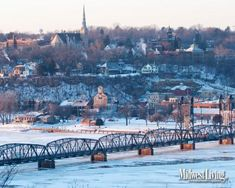Stillwater, Minnesota tucks into the St. Croix Valley. Click to download this free desktop wallpaper.