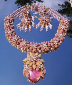 stanley hagler vintage jewelry | Signed Stanley Hagler Crystal Flower Garden Demi Parure from ...