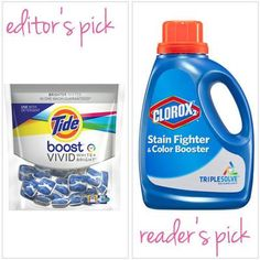 "Best Non-Chlorine Bleach Clorox 2 ($7 for 33 oz. at mass retailers) ""I like to use it to pretreat clothes. I apply it directly to stains, let it sit for 30 minutes or so, then launder. It gives new life to clothes I might otherwise discard."" Jill Smith, 40, Kaysville, Utah"