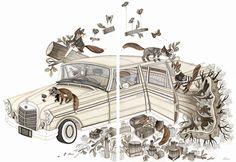 """Fox Family Field Trip"" by Evan B. Harris (at Tiny Showcase)"