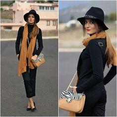 Zara Hat, Imperio Clandestino Bag, Sheinside Dungaree