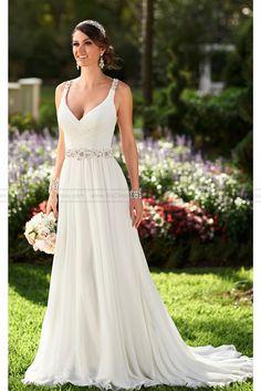 Stella York Chiffon  Wedding  Dresses  Style  6018