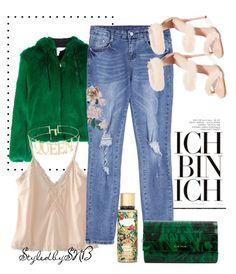 """Ich Bin Ich"" by styledbysnb on Polyvore featuring MSGM, Giuseppe Zanotti, Elie Saab and Victoria's Secret"