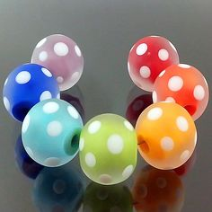 A Rainbow of Lampwork Glass Beads