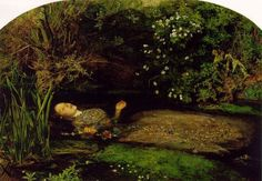 """One of the famous painting of Ophelia drowning in Hamlet Act IV, Scene VII by British artist Sir John Everett Millais, completed between 1851 and Hoe, Ellen. """"The Meaning Of 'Ophelia' By John Everett Millais. Jasmine Becket Griffith, John Everett Millais Ophelia, Ophelia Painting, Pre Raphaelite Paintings, Pre Raphaelite Brotherhood, Dante Gabriel Rossetti, Google Art Project, William Waterhouse, Tate Britain"""