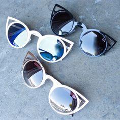 QUAY AUSTRALIA Invader Black Cat Eye Sunglasses Lightweight