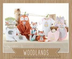 Baby Aspen Spring 2015 New Arrivals | Woodland Collection | Woodland Themed Baby Gifts | Fox | Hedgehog | Owl