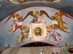 Byzantine Icons, Byzantine Art, Saint Anthony Church, Church Interior Design, Nashville Tennessee, Athens Greece, My Father, Fresco, Places