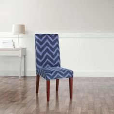 Stretch Chevron Dining Chair Slipcover