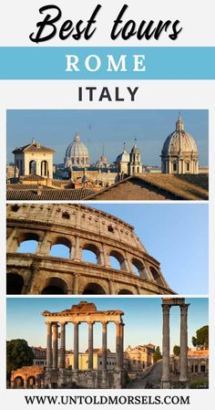 Rome Italy - best tours in Rome - discover the best ways to see the Colosseum Roman Forum and Vatican. Taking tours are our favourite things to do in Rome - here are our top Rome tour picks Italy Travel Tips, Rome Travel, Travel Tours, Greece Travel, Travel Destinations, Travel Europe, Travel Guides, Rome Italy Tours, Things To Do In Italy