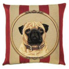 Pug Royal Belgian Tapestry Dog Cushions  http://www.abentleycushions.co.uk/detail.asp?pID=7878