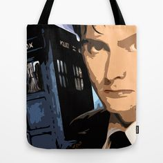 Dr Who 50th anniversary * Tenth Doctor * Tv Series Inspiration Tote Bag by Freak Shop - $22.00