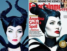 Now I am not Angelina Jolie, but I did my best to show you how to look like Angelina Jolie as Disney's Maleficent. So here's how to do it and what you need and a little info on her look:  INSIDE MALEF