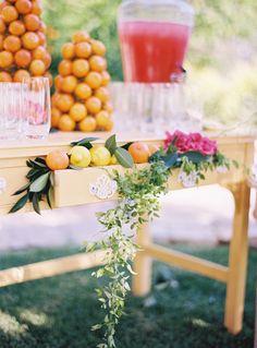 #orange, #punch  Photography: Ryan Ray Photography - ryanrayphoto.com Event Design + Planning: Events of Love and Splendor - loveandsplendor.com/ Floral Design: Heavenly Blooms - heavenlybloomsdesigns.com  Read More: http://www.stylemepretty.com/2013/04/04/ojai-wedding-from-ryan-ray-photo-love-and-splendor/