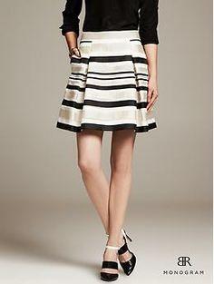 BR Monogram Striped Organza Skirt - Skirts