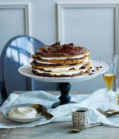 Chocolate-coffee crêpe cake |