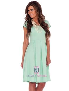 The Ivy in Mint Modest Dress by Mikarose | Trendy Modest Dresses | Mikarose Spring 2014 Collection