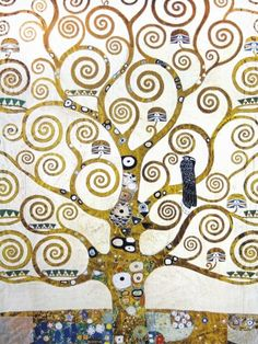 Gustav Klimt - Der Lebensbaum (Detail)