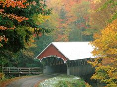 Flume Covered Bridge in Autumn Franconia Notch State Park New ...