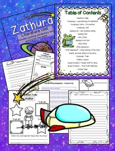Who doesn't love a space adventure? Zathura written by Chris Van Allsburg literature unit! https://www.teacherspayteachers.com/Product/Zathura-Literature-Unit-and-Activities-2003464