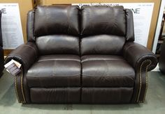 Berkline Reclining Leather Loveseat. #Costco #FrugalHotspot