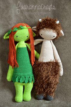 Nymph & Faun mod made by Marlisa S. / based on a lalylala crochet pattern