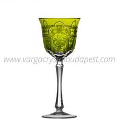 Imerial Yellow-Green Wine 228€ Whiskey Decanter, Luxury Candles, Budapest, Wine Glass, Things To Come, Collections, Traditional, Crystals, Yellow