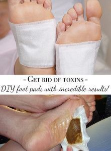 DIY detoxifying foot pads with incredible results