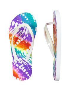 Multicolored Tie Dye Flip Flops   Swim Accessories   Swim Trends   Shop Justice