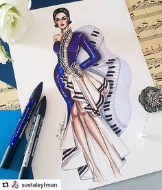 Style design class repost svetaleyfman with make_repost Dress Design Sketches, Fashion Design Sketchbook, Fashion Design Drawings, Fashion Sketches, Fashion Figure Drawing, Fashion Drawing Dresses, Fashion Illustration Dresses, Arte Fashion, Moda Fashion