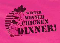 Pop Culture Trendy Winner Winner Chicken Dinner Football Basketball Baseball Tshirt Tee T-Shirt Ladies Youth Adult Unisex
