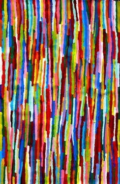 Aboriginal Artwork by Sally Clark. Sold through Coolabah Art on eBay. Cataogue ID 13571