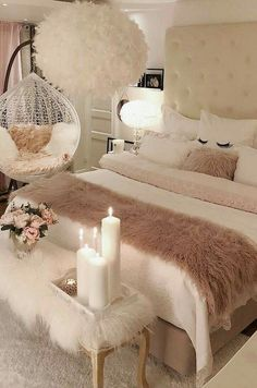 40 Cozy Home Decorating Ideas for Girls' Bedrooms. 40 Cozy Home Decorating Ideas for Girls' Bedrooms Cozy Home Decorating, Decorating Ideas, Decorating Websites, Small Bedroom Designs, Design Bedroom, Romantic Bedroom Design, Simple Bedroom Design, Room Ideas Bedroom, Bedroom Decor For Women