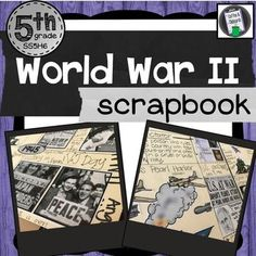 WWII Scrapbook Need an outstanding visual that will anchor your students learning of World War II?This product is a step-by-step 70 slide power point that will walk your students through the creation of a WWII Scrapbook. When they are done they will have an awesome reference they can refer to year all year long!
